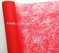Флизелин красный на метраж,шириной 50 см