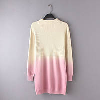 Платье-туника бежево-розового цвета