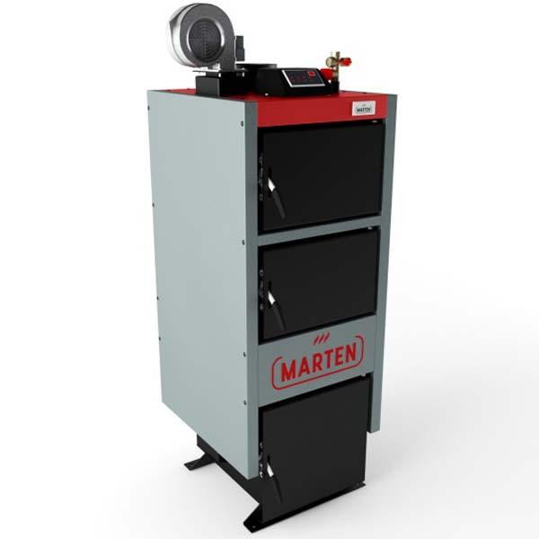 Твердотопливный котел длительного горения Marten MC-33 с турбиной и автоматикой