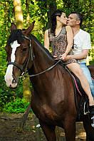 Романтические прогулки на лошадях по лесу