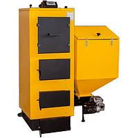 Твердотопливный котел длительного горения Kronas Combi -75 автоматическая подача топлива (пелет/уголь)