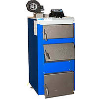 Твердотопливный котел длительного горения  НЕУС-В 38кВт с турбиной и автоматикой