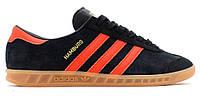 """Мужские Кроссовки Adidas Hamburg """"Black Red"""" - """"Черные Красные"""" (Копия ААА+)"""