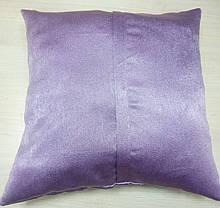 Подушка однотонная Софт Сирень, размер 40х40см (наволочка+подушка), фото 3