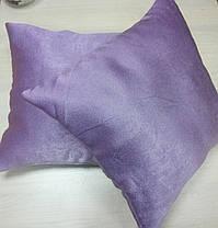 Подушка однотонная Софт Сирень, размер 40х40см (наволочка+подушка), фото 2