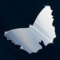 Декоративное детское зеркало из акрила «Бабочка», Juergen