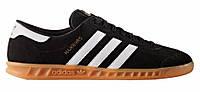 """Мужские Кроссовки Adidas Hamburg """"Black White"""" - """"Черные Белые"""" (Копия ААА+), фото 1"""