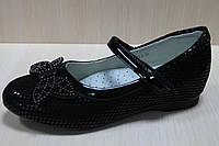 Подростковые черные туфли на девочку, детские школьные туфли  тм Том.м р. 36,37