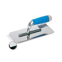 Шпатель для венецианской штукатурки INOX 240х100мм с резиновой ручкой