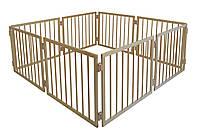 Манеж детский деревянный 63 см 8 секций