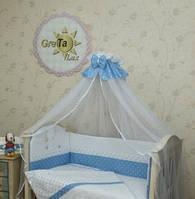 Постельное белье для новорожденных в кроватку Рандеву 7 предметов, фото 1
