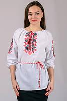 Блузка вышиванка натуральная ткань домотканная. Узор народный орнамент  Украиночка