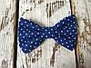 Галстук-бабочка, синяя в точку
