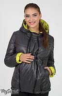 Демисезонная куртка-трансформер Floyd графит+салат
