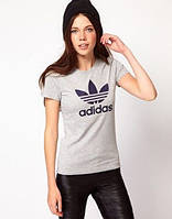 """Женская футболка спортивная """"Adidas"""" серая"""
