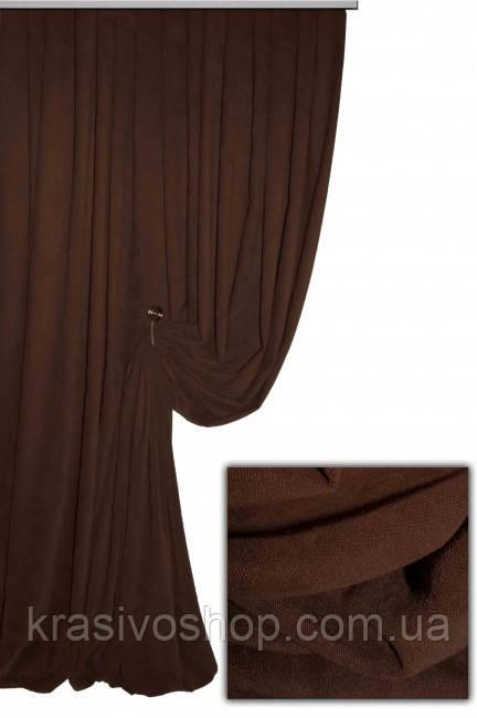 Ткань для штор Пальмира  коричневая , Турция
