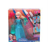 Кукла принцесса Эльза, Анна Frozen Холодное сердце 2 вида + краска для волос, трафарет, расческа