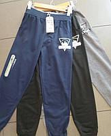 Спортивные штаны манжет черные 134-164