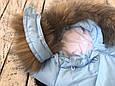 """Конверт для новорожденного """"Дутик Snowman"""" голубой, фото 4"""