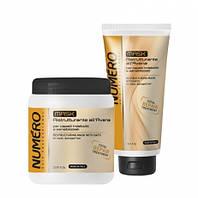 Маска для восстановления структуры волос с экстрактом овса Brelil NUMERO Ristrutturante 1000 мл