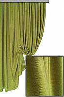 Ткань для штор Пальмира  оливковая , Турция