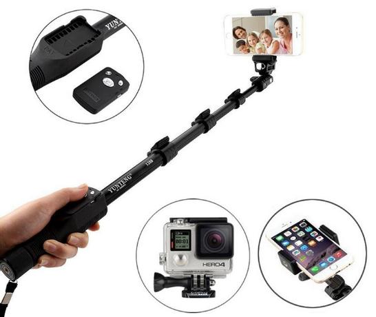 Монопод Yunteng YT-1288 NEW для экшн камер, смартфонов, фотоаппаратов