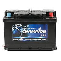 Аккумулятор Champion Black 74Ah/ пусковой ток 720A / гарантия 2 года