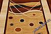 """Рельефный овальный ковер Нидал """"Графика"""", цвет кремово-коричневый, фото 2"""