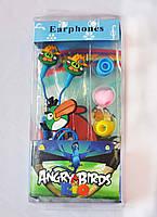 Наушники mp3 вакуумные Angry Birds