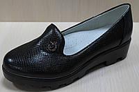 Подростковые черные туфли на рельефной подошве на девочку тм Том.м р. 32,36