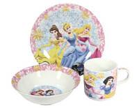 """Детский набор посуды из керамики """"Принцесса"""" 3 предмета"""