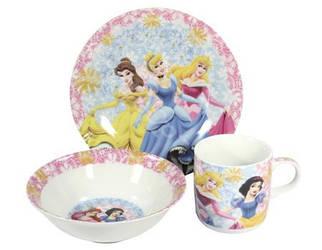 Детский набор посуды из керамики Принцессы Дисней