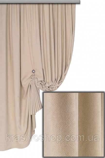 Ткань для штор Пальмира светлая бежевая , Турция