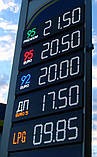 """Комплект электронных  информационных табло для автозаправок """"PS2-320S"""" (высота символа 320 мм), фото 3"""