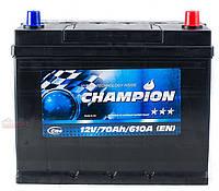 Аккумулятор Champion Black Japan 70Ah/ пусковой ток 610A / гарантия 2 года