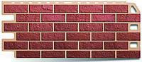 Цокольный сайдинг/Фасадная панель под камень красный