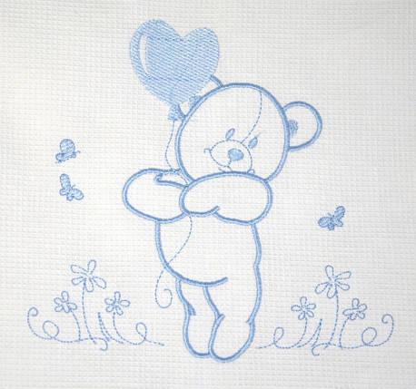 Постельный комплект Veres Sweet Bear, 7 эл., голубой, фото 2