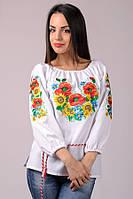 Лучшая цена! Вишиванка кольорова райдуга. Квіти. Мак, сонце, волошки. Самая лучшая вышиванка и цена в Украине