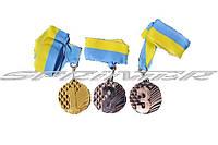 Медаль наградная с лентой