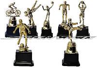 Статуэтки наградные с видами спорта (баскетбол, вольная борьба, велоспорт, плавание)