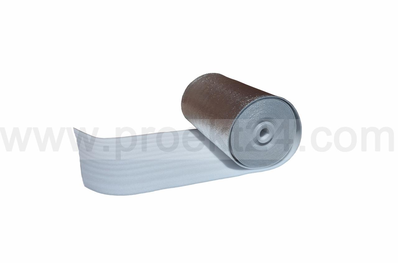 Пенофол фольгированный 8мм, вспененный полиэтилен - не сшитый