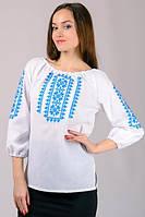 Вішиванка орнаментом , натуральная ткань, прекрасное качество, производство Украина. Красная и голубая вышивка