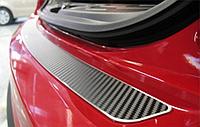 Накладка на бампер Peugeot  308 SW 2011- карбон