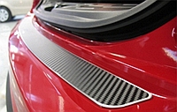 Накладка на бампер Renault Megane III Grandtour 2009- карбон