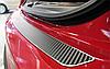Накладка на бампер Subaru Outback II 2000-2004 карбон