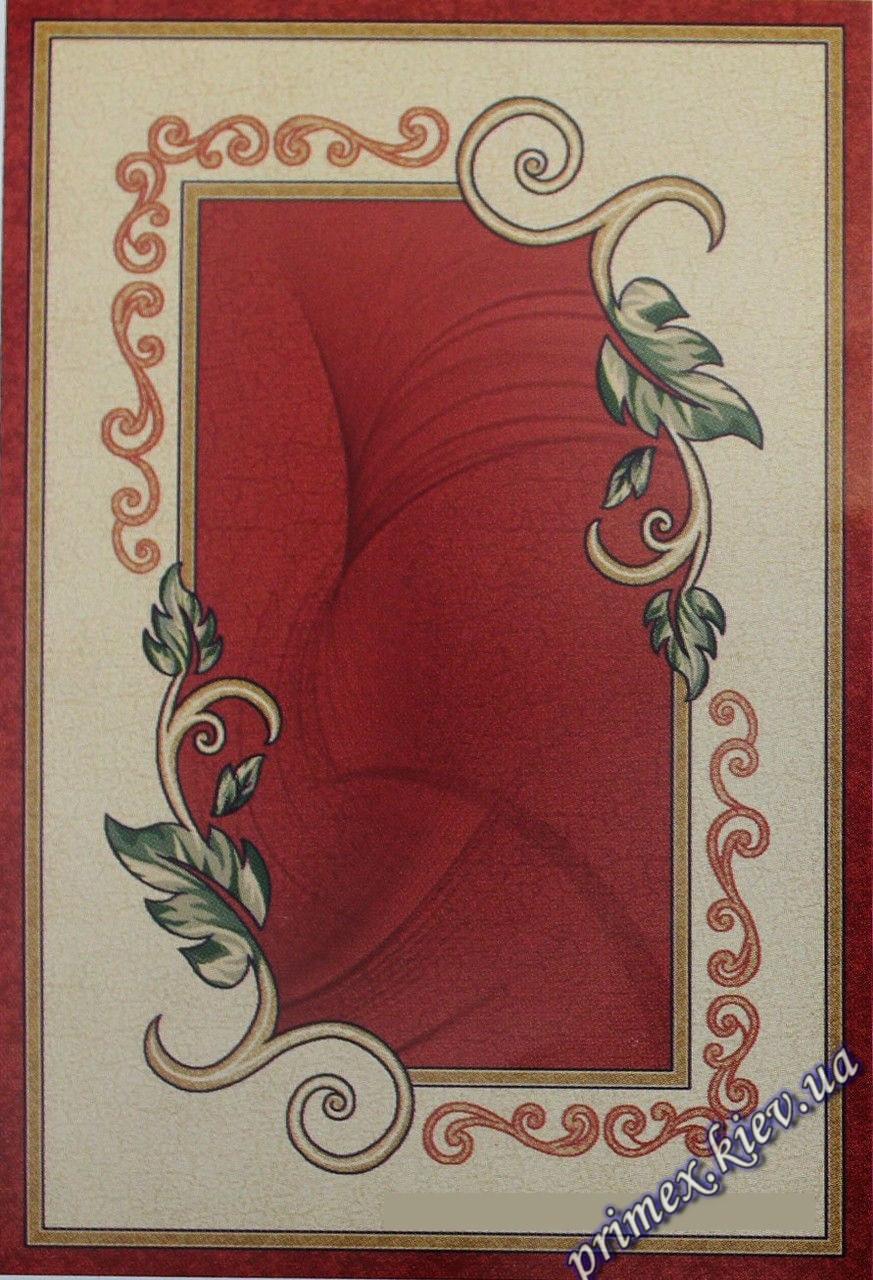 """Рельефный прямоугольный ковер Нидал """"Сдержанность"""", цвет красно-бежевый"""