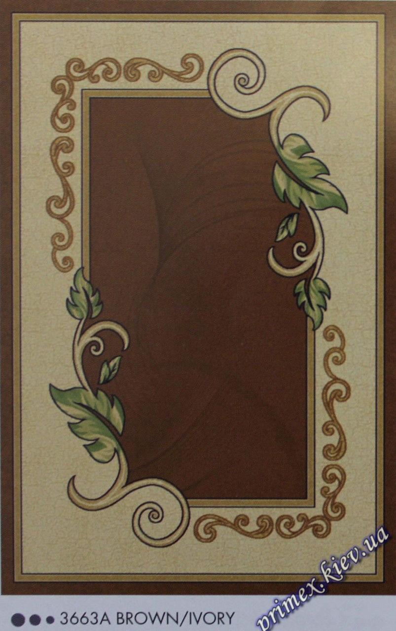 """Рельефный прямоугольный ковер Нидал """"Сдержанность"""", цвет т.коричнево-бежевый"""