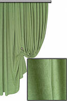 Ткань для штор Пальмира зеленая  , Турция