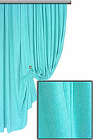 Ткань для штор Пальмира бирюзовая , Турция