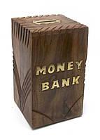Копилка Money Bank деревянная